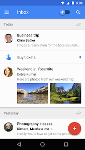 screenshot of Inbox by Gmail version 1.78.217178463.release