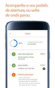 screenshot of Itaú abreconta version 1.0.17
