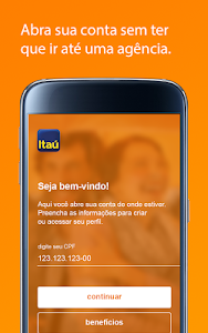 screenshot of Itaú abreconta version 1.0.23