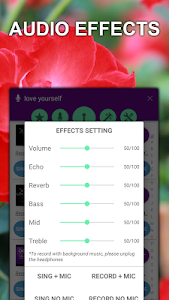 screenshot of Kakoke - sing karaoke, voice recorder, singing app version 4.1.9