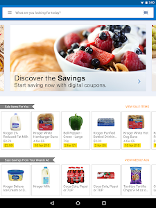 screenshot of Kroger version 12.2.1