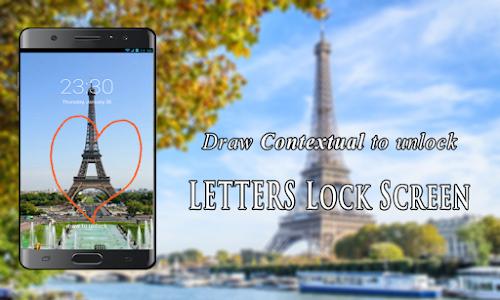screenshot of Letters Lock Screen version 20.20.20