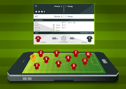 screenshot of Live Football version 1.3