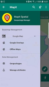 screenshot of Mapit Spatial - Geopackage Manager version 1.0.6