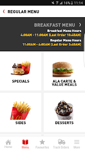 screenshot of McDelivery Malaysia version 3.1.43 (MY28)