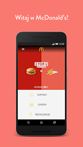 screenshot of McDonald's Polska version 2.0.1056