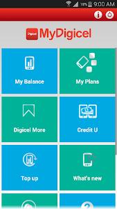 screenshot of MyDigicel App version 3.21