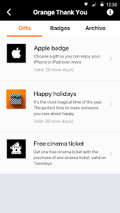 screenshot of My Orange BE version 4.4.1