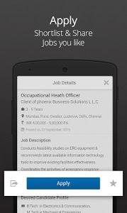screenshot of Naukri.com Job Search version 8.1