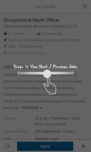 screenshot of Naukri.com Job Search version 6.2.1