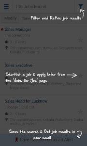 screenshot of Naukri.com Job Search version 6.2.1