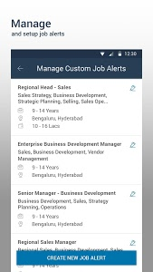 screenshot of Naukri.com Job Search version Varies with device