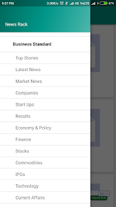 screenshot of News Rack version 1.0