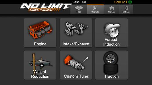 screenshot of No Limit Drag Racing version 1.36