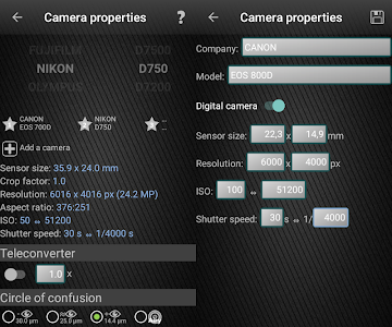 screenshot of Photographer's companion version 1.4.8.4
