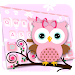Download Pink Owl Keyboard Theme 1.0 APK