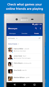 screenshot of PlayStation Messages - Check your online friends version 18.09.13.11260