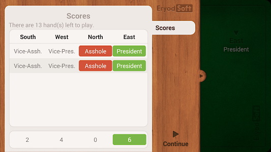 screenshot of President - Card Game - Free version 2.2.0