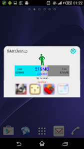 screenshot of RAM Cleanup version 1.4