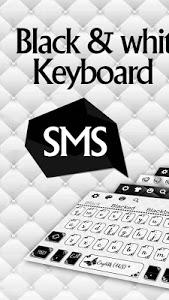 screenshot of SMS Black White Keyboard version 10001008