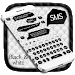 Download SMS Black White Keyboard 10001007 APK