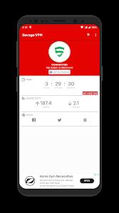 screenshot of Savage VPN - Unlimited Free VPN version 4.3