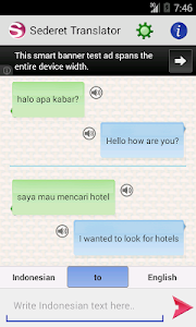 screenshot of Sederet Translator version 1.0