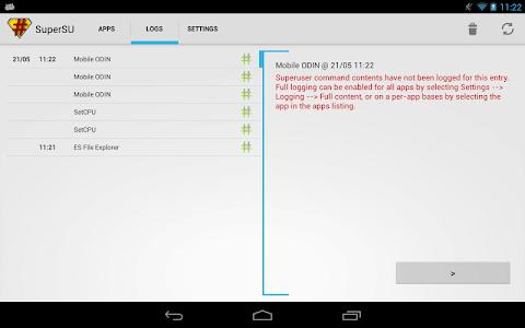 screenshot of SuperSU version 2.82