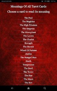 screenshot of Tarot Card Reading version 3.8