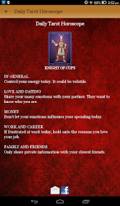screenshot of Tarot Card Reading & Horoscope version 4.0