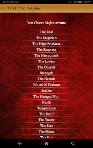 screenshot of Tarot Card Reading version 3.9