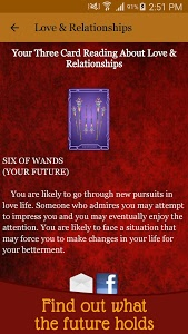screenshot of Tarot Card Reading - Love & Future Daily Horoscope version 5.9