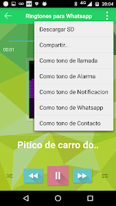 screenshot of Tonos para Whatsapp version 1.0
