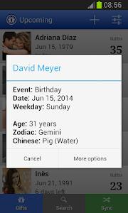 Download Birthday calendar (Upcoming) 1.7.0 APK