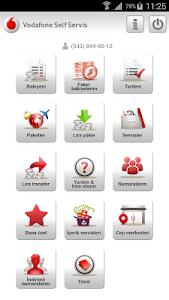 screenshot of Vodafone Self Servis version 1.4.5