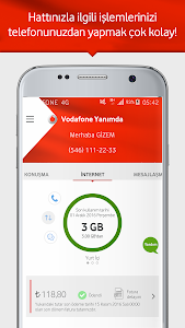 screenshot of Vodafone Yanımda version 4.1.1