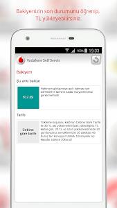 screenshot of Vodafone Self Servis version 1.5
