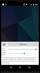 screenshot of Volume Booster GOODEV version 6.1