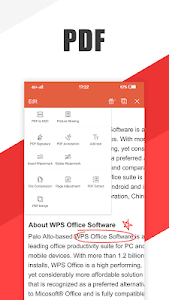 screenshot of WPS Office - Word, Docs, PDF, Note, Slide & Sheet version 11.4.2