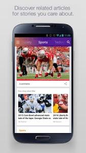 screenshot of Yahoo - News, Sports & More version 6.6.17