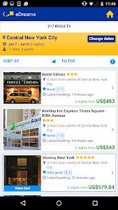 screenshot of eDreams-Flights, Hotels & Cars version 2.2.3