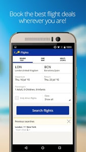 screenshot of eDreams-Flights, Hotels & Cars version 3.8.1